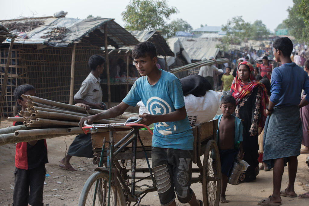 Kambi ya wakimbizi ya Rohingya ya Kutupalong, Bangladesh, Novemba 23, 2017.