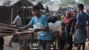 Le camp de réfugiés rohingyas de Kutupalong, au Bangladesh, le 23 novembre 2017.