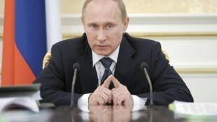 Le Premier ministre russe Vladimir Poutine, à Moscou, le 12 janvier 2012.