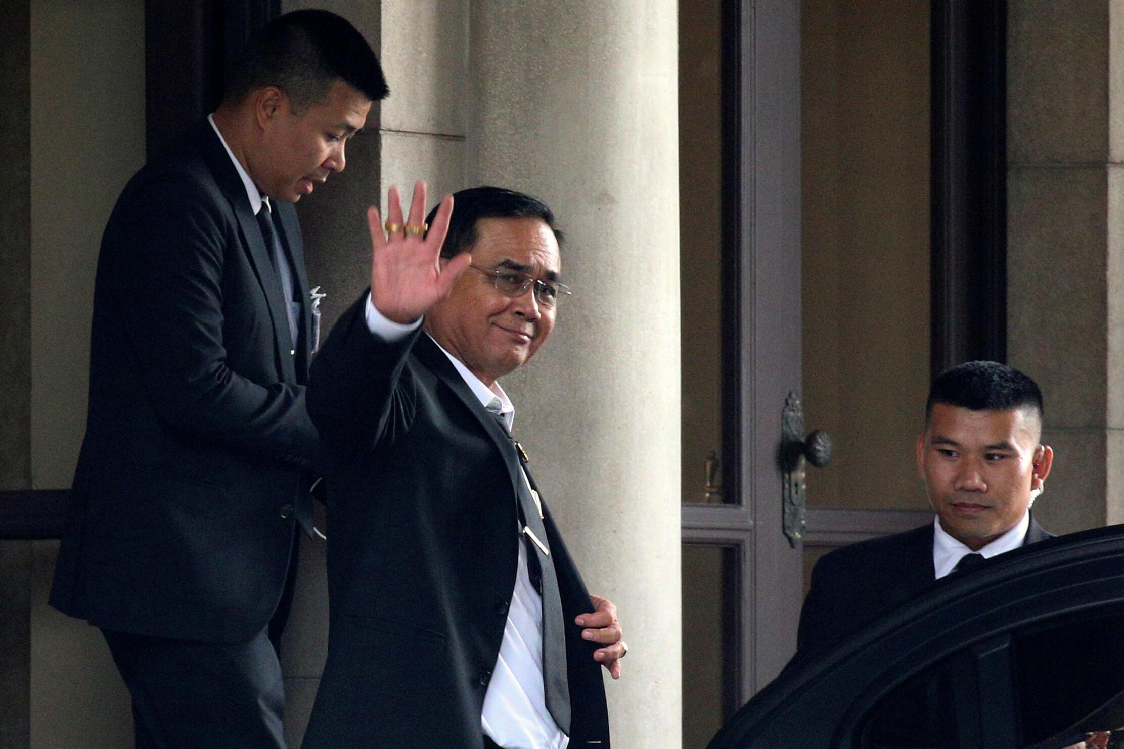 Thủ tướng Thái Lan Prayuth Chan O Cha trước phủ thủ tướng tại Bangkok, ngày 05/06/2019.