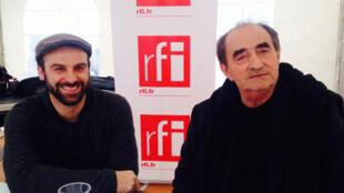 Richard Bohringer, comédien français et parrain du Grand Bivouac 2016, avec le réalisateur français Julien Masson.