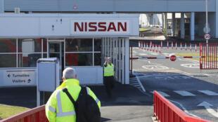 L'entrée de l'usine de Nissan à Sunderland en mars 2019.