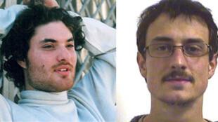 Laurent Bonomo (g) et Gabriel Ferez (d), les deux étudiants assassinés à Londres le 3 juillet 2008.