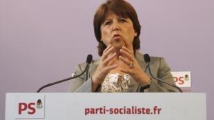 A secretária-geral do Partido Socialista francês, Martine Aubry