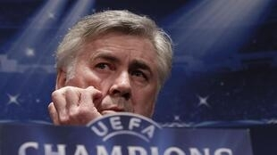 L'entraîneur du PSG, Carlo Ancelotti.