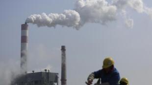 中国上海附近的工厂