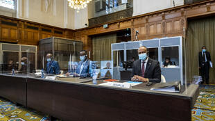 Representatives for Somalia during the ICJ hearing on 15 March 2021 in The Hague.