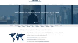 Page d'accueil d'Executive interim management.