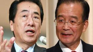 日本首相菅直人和中國總理溫家寶