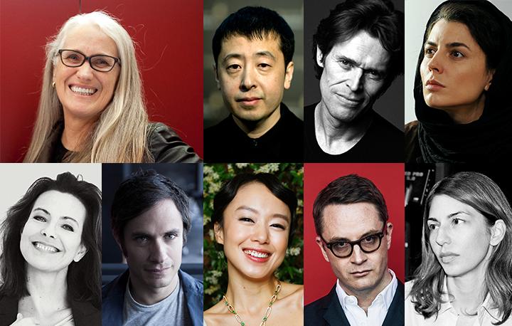 Juri do 67 Festival de Cannes: da esquerda para direita: Jane Campion, Jia Zhangke, Willem Dafoe, Leila Hatami, Carole Bouquet, Gael Garcia Bernal, Jeon Do-yeon, Nicolas Winding Refn, Sofia Coppola.