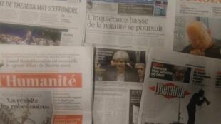 Imprensa francesa desta Quarta-feira 16 de Janeiro 2019.