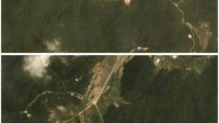 Ảnh chụp vệ tinh ngày 22/07/218 bãi phóng hỏa tiễn Sohae của Bắc Triều Tiên.