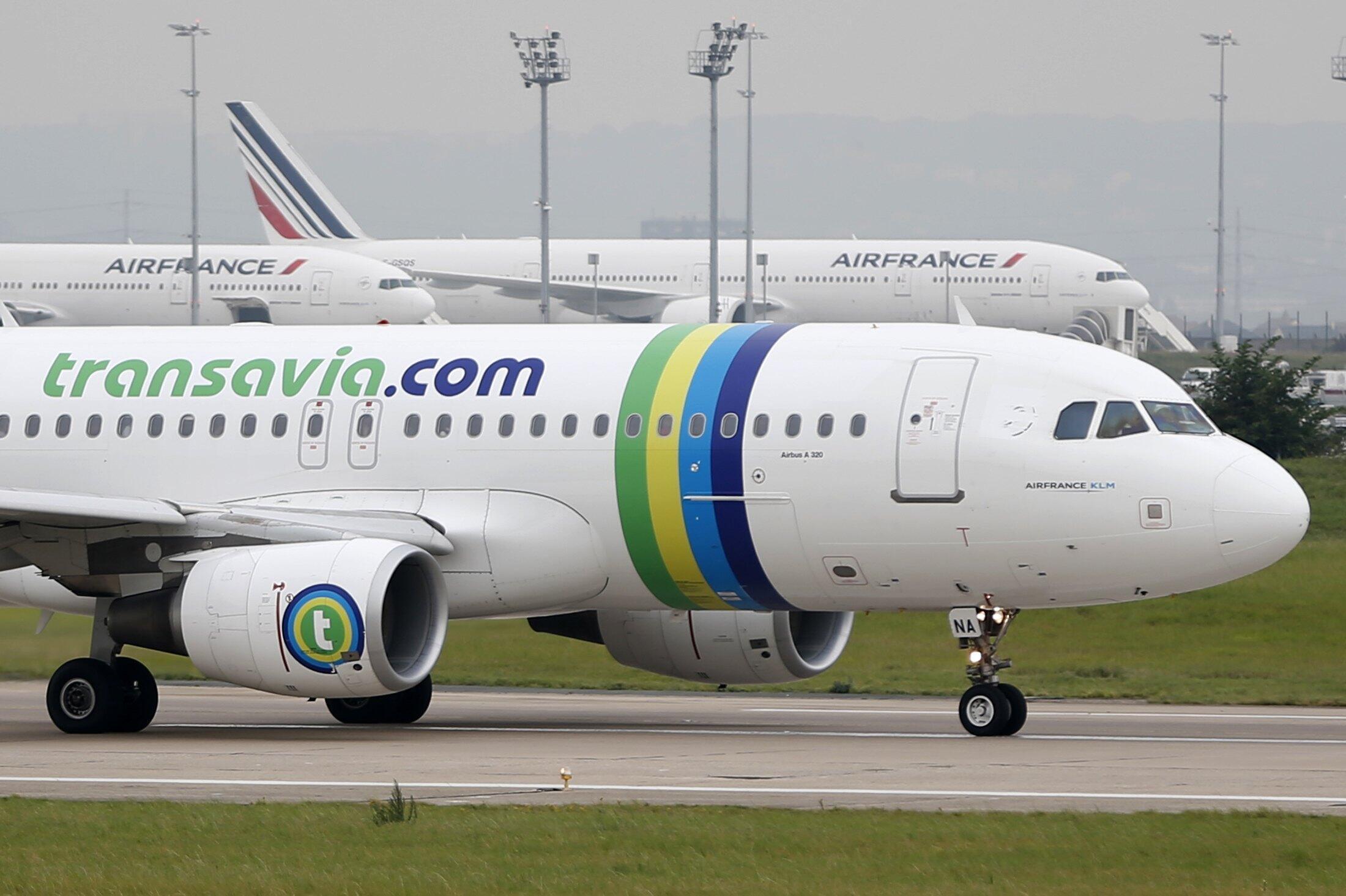 A Transavia Airbus A320 passenger at Paris's Orly airport