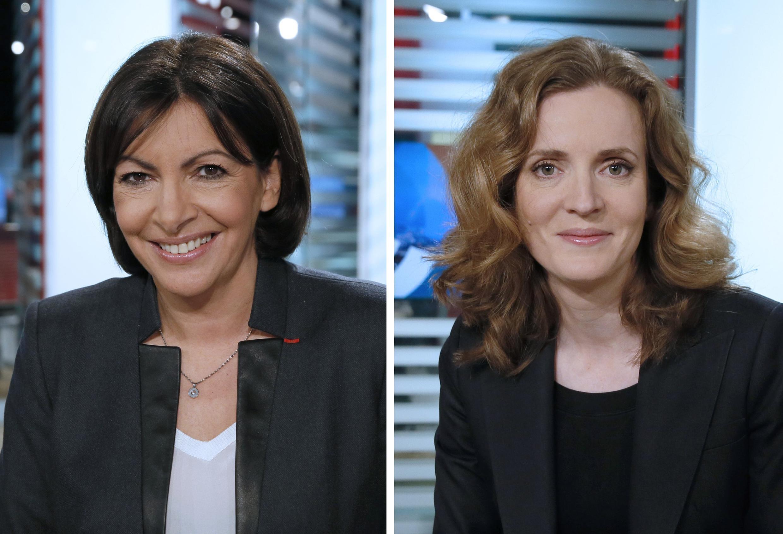 Ứng viên Thị trưởng Paris: Anne Hidalgo (T) và Nathalie Kosciusko-Morizet