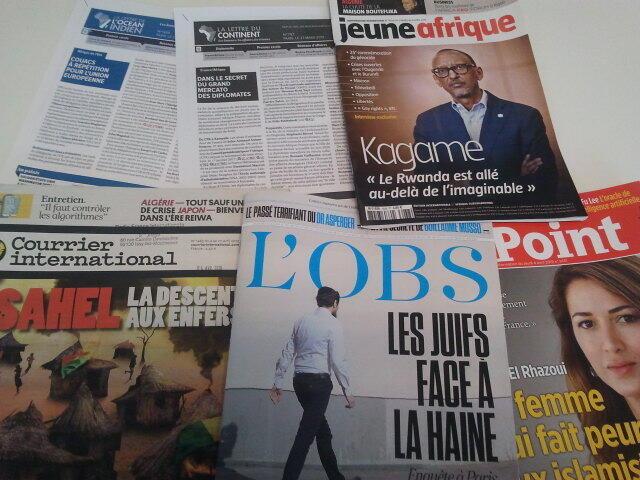 Semanários de língua francesa de 06/04/19, publicados em França