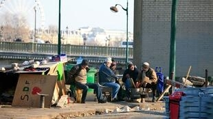 Five homeless people have died due to the cold weather in France in December 2014.