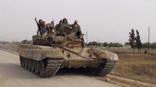 Miembros del ejército sirio.