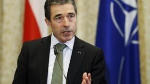 O secretário-geral da OTAN, Anders Fogh Rasmussen.
