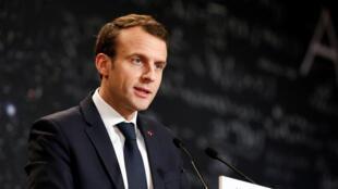 El presidente Emmanuel Macron el 29 de marzo de 2018.