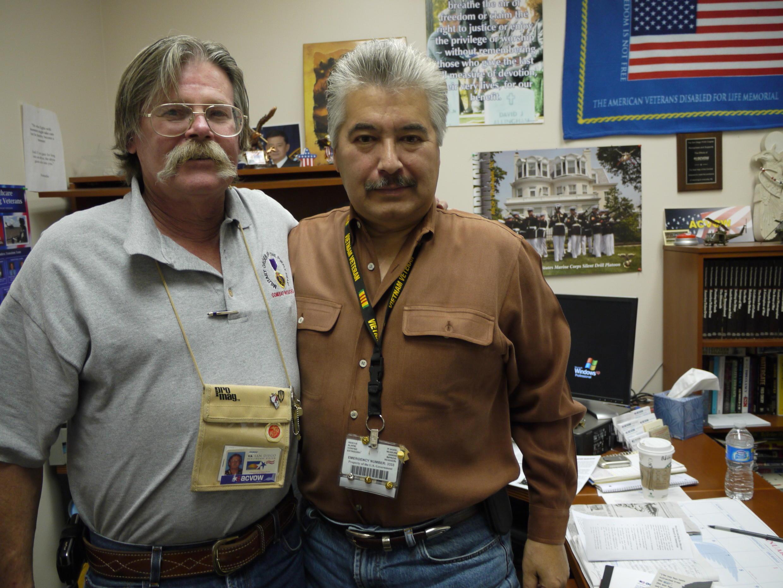Bill Rider et Mike Sloan, les deux co-fondateurs de l'association ACVOW (american combat veterans of war)
