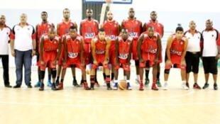 Equipa 1° Agosto Campeão em Malabo Taça Clubes Campeões Africanos Basquetebol