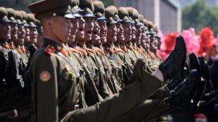 Cerimónia da celebração dos 70 anos da República Popular Democrática da Coreia.Pyongyang. 09 de Setembro de 2018 .
