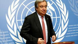 Antônio Guterres, ancien Premier ministre portugais et futur secrétaire général des Nations-unies.