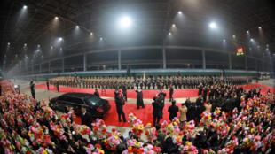 Lãnh đạo Bắc Triều Tiên Kim Jong Un về tới Bình Nhưỡng ngày 05/03/2019 sau cuộc gặp với nguyên thủ Hoa Kỳ Donald Trump tại Việt Nam (Ảnh do KCNA công bố)