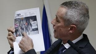 Paris public prosecutor François Molins making an appeal for witnesses during the manhunt that led to Dekhar