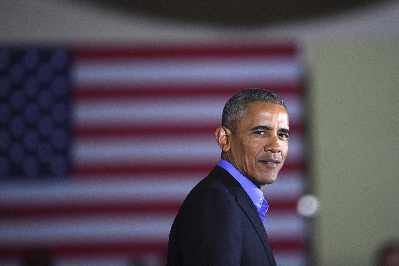 Barack Obama vận động cho ứng viên đảng Dân Chủ Jim Murphy tranh ghế thống đốc, Newark, New Jersey, ngày 19/10/2017