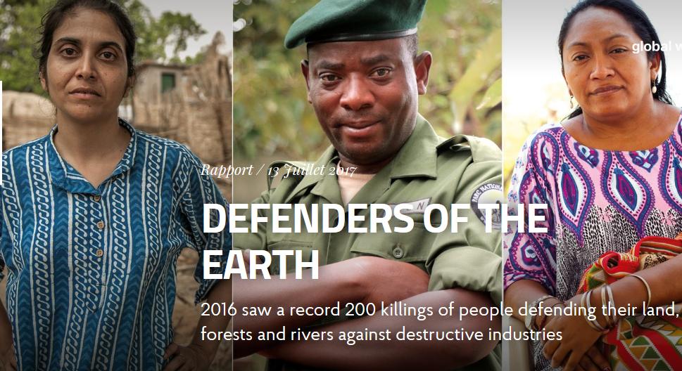 Снимок из отчета «Защитники Земли» из отчета Global Witness