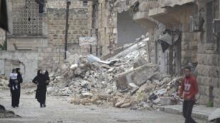 Syria : cảnh thành phố  Maaret al-Numan,  Idlib, do phe nổi dậy kiểm soat. Ảnh ngày 29/10/ 2015.