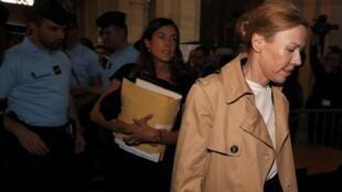 Patricia Ménard, l'ex-femme de Jérôme Cahuzac, est aussi jugée pour fraude fiscale. Ici au palais de justice à Paris, le 5 septembre 2016.