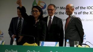 Membros do Comitê Olímpico Internacional durante última visita ao Rio de Janeiro, na semana passada.