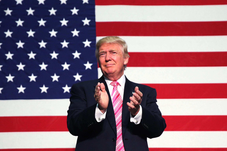 O candidato republicano à presidência dos Estados Unidos, Donald Trump