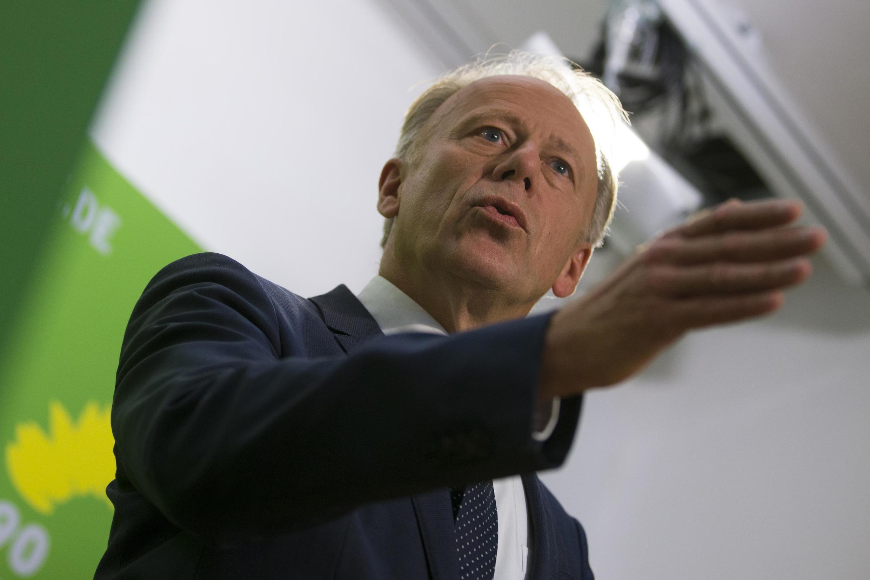 Top candidate of the Green Party (Die Gruenen) Juergen Trittin