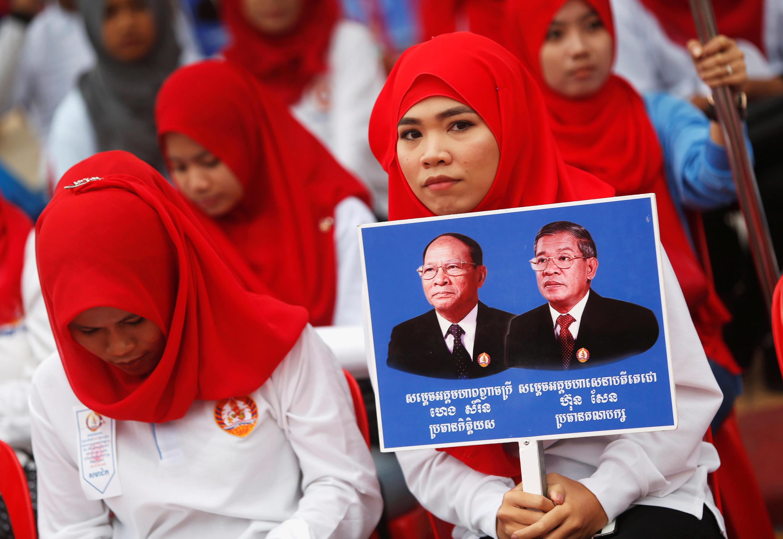 Ảnh minh họa : Cuộc vận động tranh cử rầm rộ của đảng cầm quyền tại Phnom Penh. Ảnh ngày 07/07/2018.