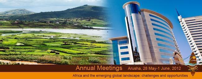 Mkutano wa Benki ya Maendeleo ya Afrika AFDB unaofanyika Arusha, Tanzania kuanzia tarehe 28 May - 1 June, 2012
