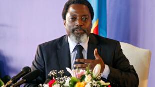Le président Kabila lors de sa coférence de presse du 26 janvier 2018: pour l'UDPS, le débat lancé par le chef de l'Etat est dépassé.