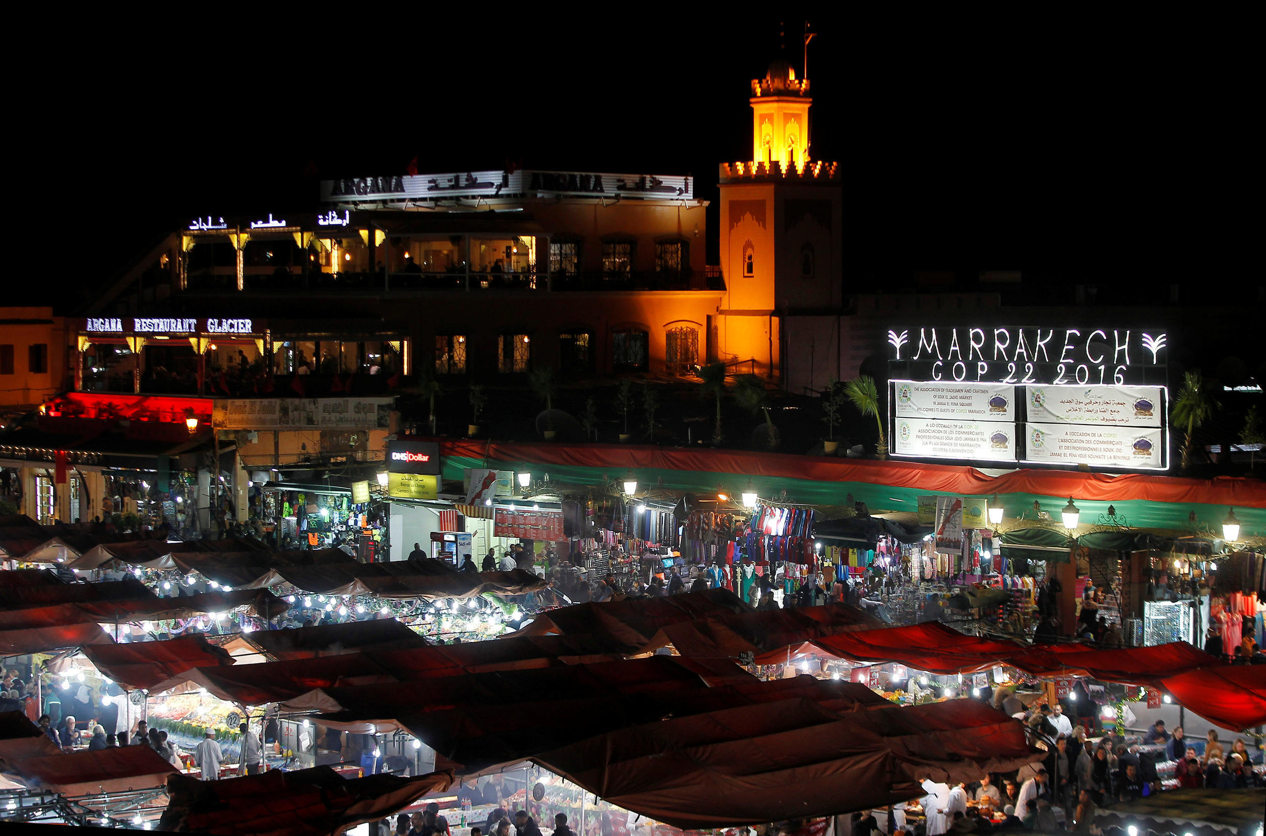 The Jamaa el Fena square is seen in Marrakech, Morocco, the city which is hosting the UN Climate Change Conference 2016 (COP22).
