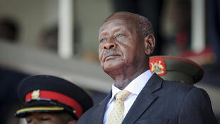 Le président ougandais Yoweri Museveni en février 2020 au Kenya.