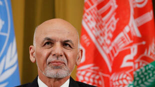 Le président afghan Ashraf Ghani lors de la conférence de deux jours sur l'Afghanistan à l'ONU à Genève, le 27 novembre 2018.