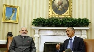 Tổng thống Obama tiếp thủ tướng Ấn Độ Narendra Modi tại Nhà Trắng, ngày 30/09/2014.