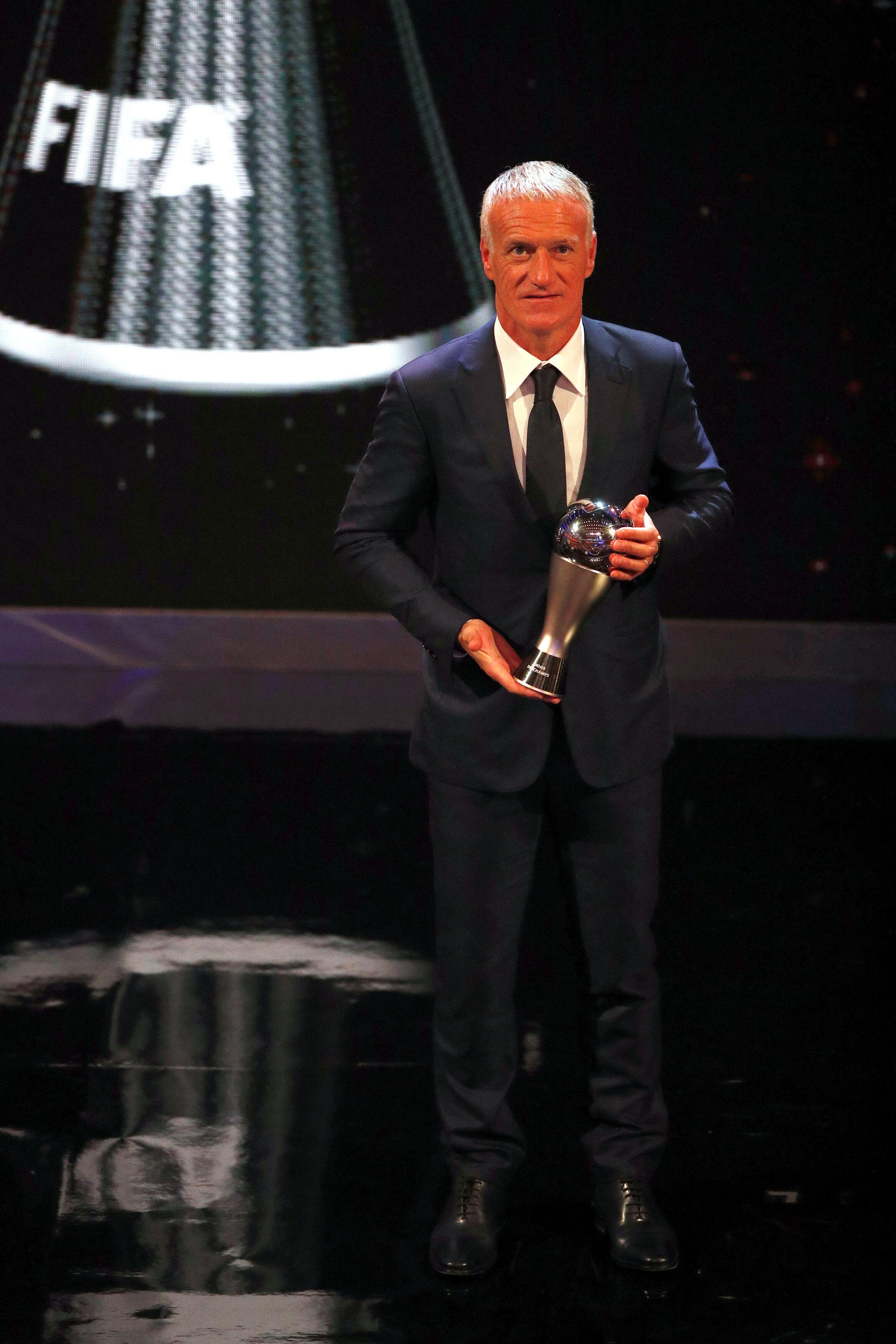 Didier Deschamps nhận danh hiệu huấn luyện viên xuất sắc nhất, Luân Đôn, 24/09/2018