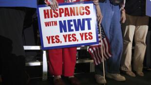 Simpatizantes del candidato republicano Newt Gingrich durante un mitin en Tampa, Florida, el 30 de enero de 2011.