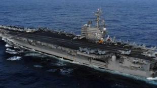 """美國海軍""""里根""""號航母資料圖片"""