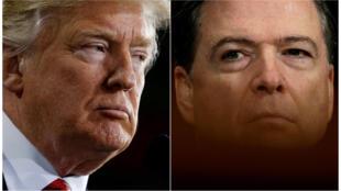 O braço de ferro entre o presidente americano, Donald Trump e o ex-director do FBI, James Comey