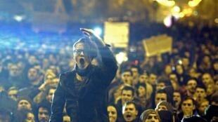 Manifestación en Bucarest, Rumania, el pasado 4 de noviembre de 2015.
