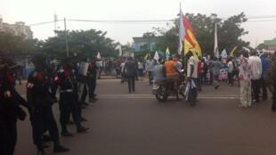 Nchini DRC, polisi imesambaratisha mkutano wa upinzani Kinshasa, Mei 26, 2016.