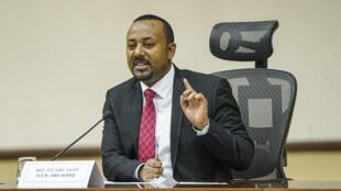 El primer ministro etíope, Abiy Ahmed, el 30 de noviembre de 2020, en Adis Abeba
